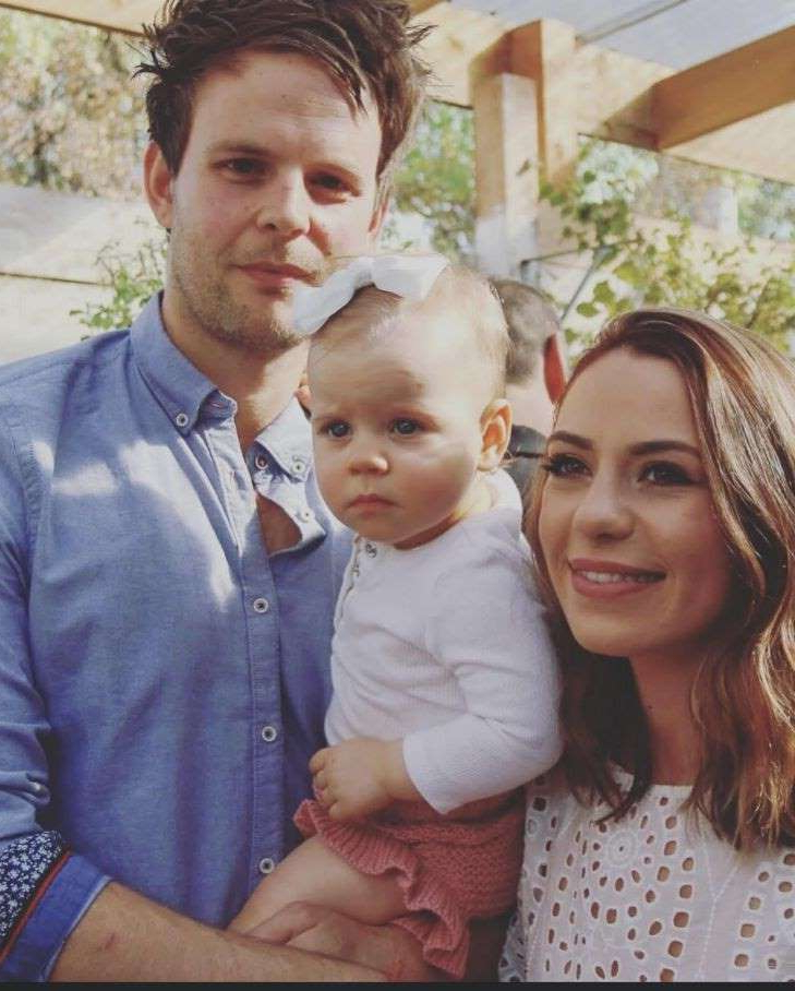a group of people posing for the camera: ?? The Age News Zoe Mior and Anthony Stagliano, of Templestowe, whose wedding next Monday August 10 has been called off. Pictured with their eldest daughter Isla in 2018. Supplied image 2nd August 2020