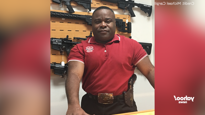 a person posing for the camera: Michael Cargill, owner of Central Texas Gun Works in Austin