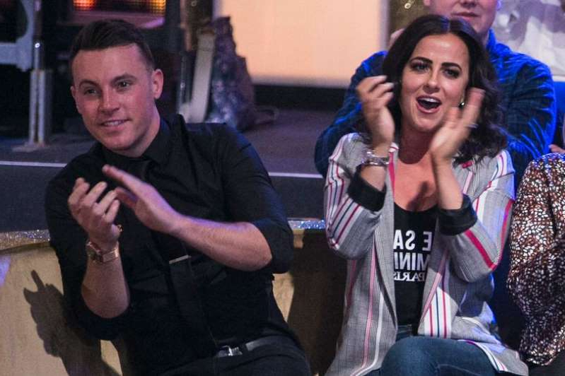 Nathan Carter and Lisa McHugh at the Live show of RTE's Dancing with the Stars.