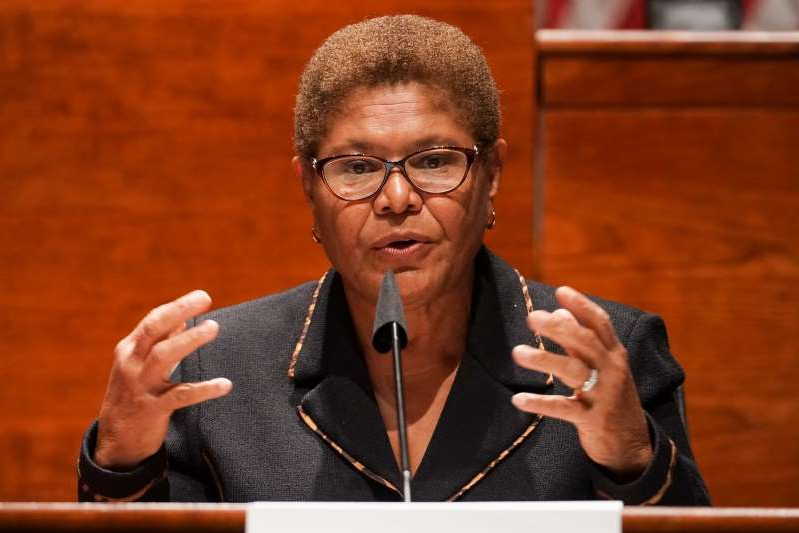 Karen Bass, the head of the Congressional Black Caucus, has emerged as a leading contender for Biden's vice presidential choice.