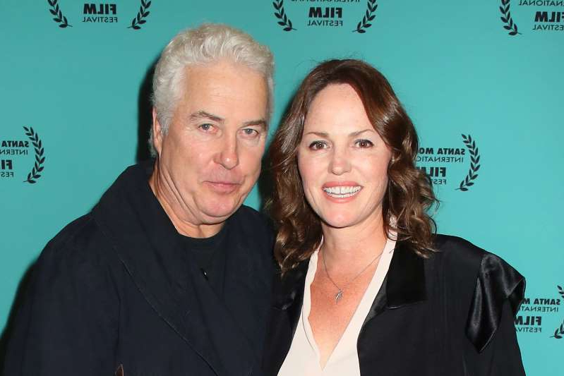 Jorja Fox, William Petersen posing for the camera: Jorja Fox and William Petersen. Photo: David Livingston/Getty Images