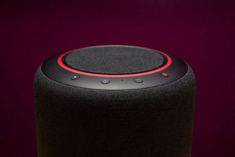 a close up of a speaker: An Amazon vulnerability with its subdomain kicked off a chain of issues that could have let a hacker view your voice chat history, researchers said. Sarah Tew/CNET