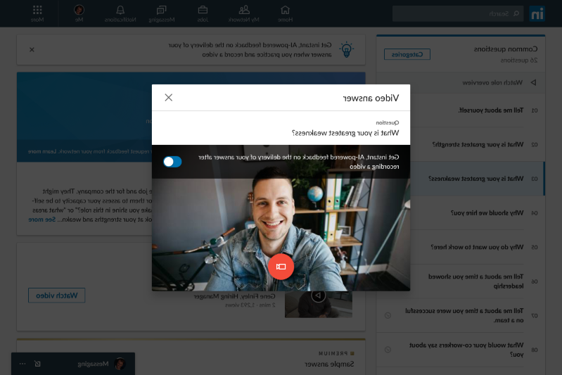 a screenshot of a cell phone: LinkedIn video tools for job seekers