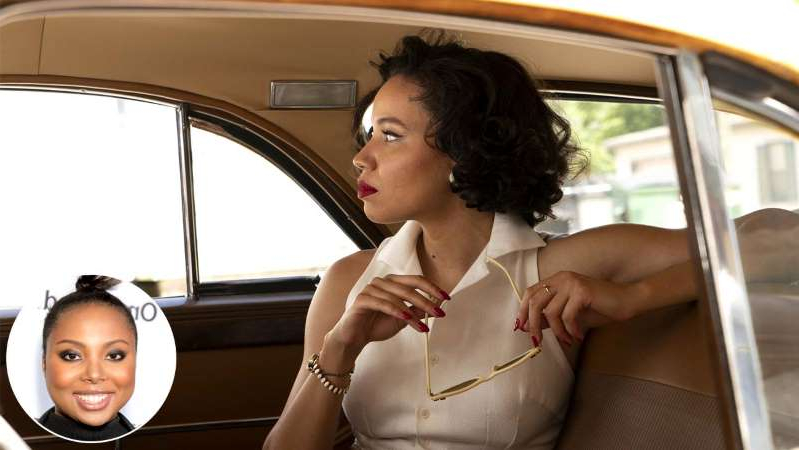 Jurnee Smollett, Misha Green taking a selfie in a car