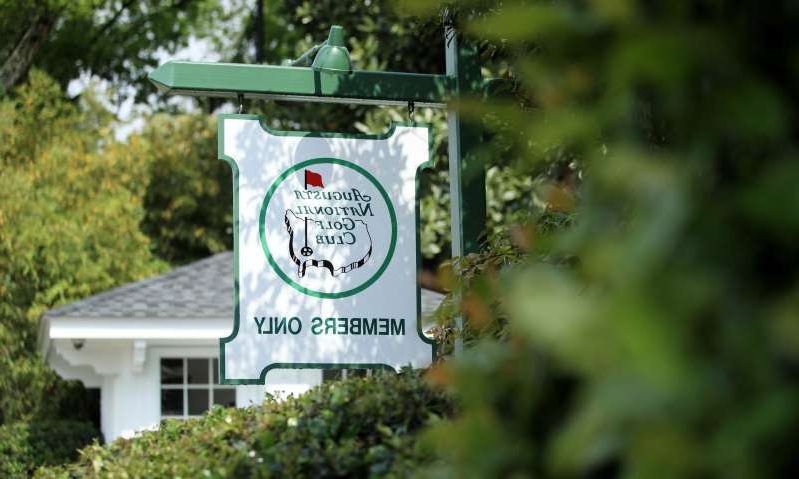 a sign on the side of a building: A general view of the entrance to Magnolia Lane at Augusta National Golf Club. (Photo: Andrew Redington, Getty Images)