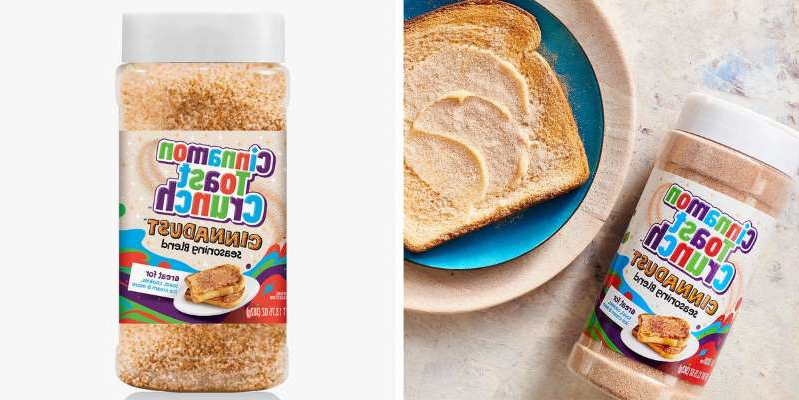 a close up of food: The new Cinnamon Toast Crunch Cinnadust Seasoning combines the cereal's famous cinnamon sugar blend with sweet notes of vanilla, caramel, and graham. It's available at Sam's Club.