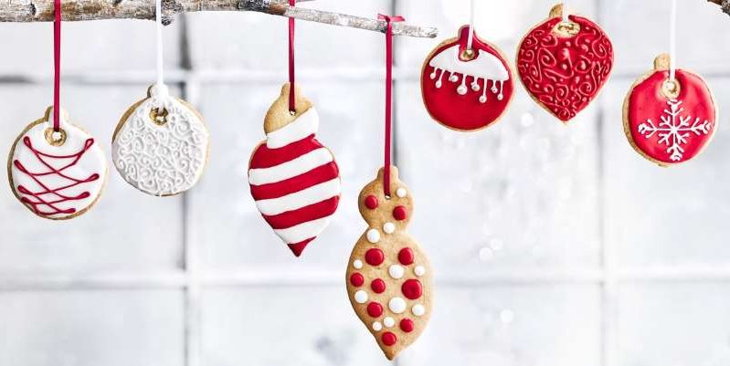 Christmas Bauble Hanging Biscuits: Whether on your tree, packaged as a beautiful gift or a teatime treat, this is a sugar cookie recipe you can trust.