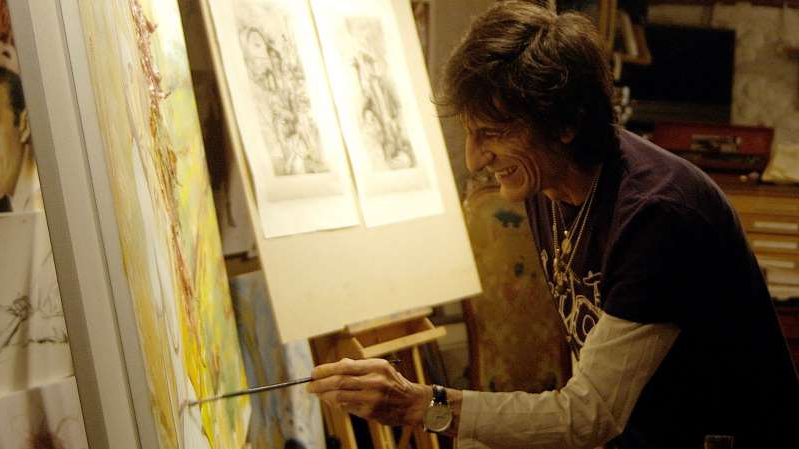 Ronnie Wood has created almost 20 paintings during lockdown