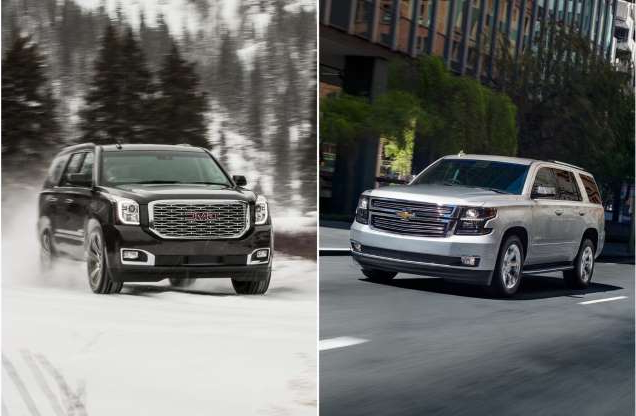Slide 1 of 16:   Drivers in the market for a large SUV are probably well aware the    2020 Chevrolet Tahoe    and the    2020 GMC Yukon    stack up closely. Sharing the same powertrain, base platform, and offering similar features, sometimes it can be hard to decide which vehicle is best for your priorities.    In our    ranking of large SUVs    , the Chevy Tahoe is ranked No. 2, while the 2020 GMC Yukon ranks No. 6.    Our review breaks down these rankings one category at a time, closely detailing each SUV's features in every category from powertrains, handling, and reliability to seat comfort, cargo space, and interior features. Although the GMC Yukon has a better interior quality and features, the Chevy Tahoe pulls ahead in price, reliability, and towing.    This article will help you get a better idea of which of these large SUVs matches up with your preferred priorities. Remember the scores on our site are always being updated by our experts as new reviews come available, so the scores cited in this slideshow might not match the scores in the reviews.