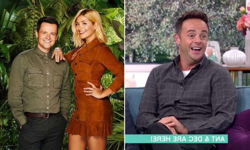 Anthony McPartlin, Holly Willoughby, Declan Donnelly posing for the camera: Hello! Magazine