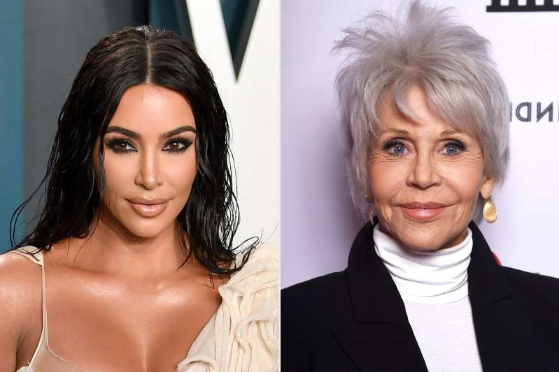 Jane Fonda, Kim Kardashian posing for the camera: Jane Fonda also shared that she used to frequent the same nail salon as Kim Kardashian West and they would