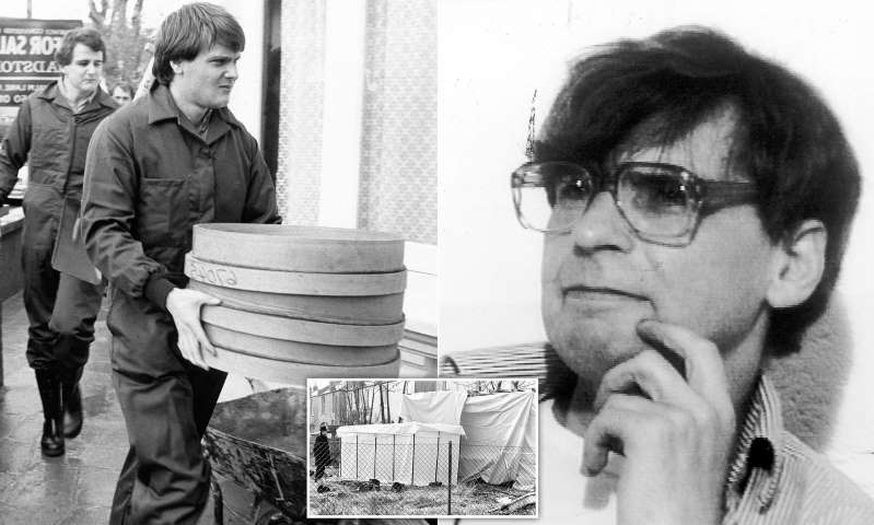 Dennis Nilsen wearing glasses talking on a cell phone: MailOnline logo