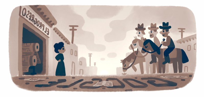 Jovita Idár, a Mexican-American civil rights pioneer, is celebrated in today's Google Doodle on the anniversary of the week the First Mexican Congress was held, September 14 to 22, 1911.