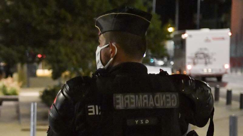 A file photo of a gendarme - gendarmes were deployed in the search for the suspects in this case