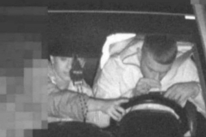 Driver caught in speed camera image snorting a mystery substance