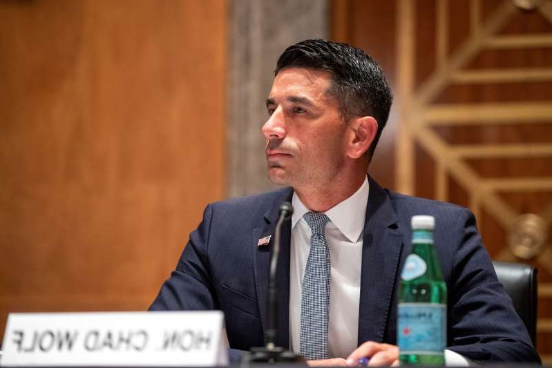 a man wearing a suit and tie: U.S. Senate Homeland Security and Governmental Affairs Committee conducts hearing on nomination of Chad Wolf to be secretary of Department of Homeland Security (DHS) on Capitol Hill