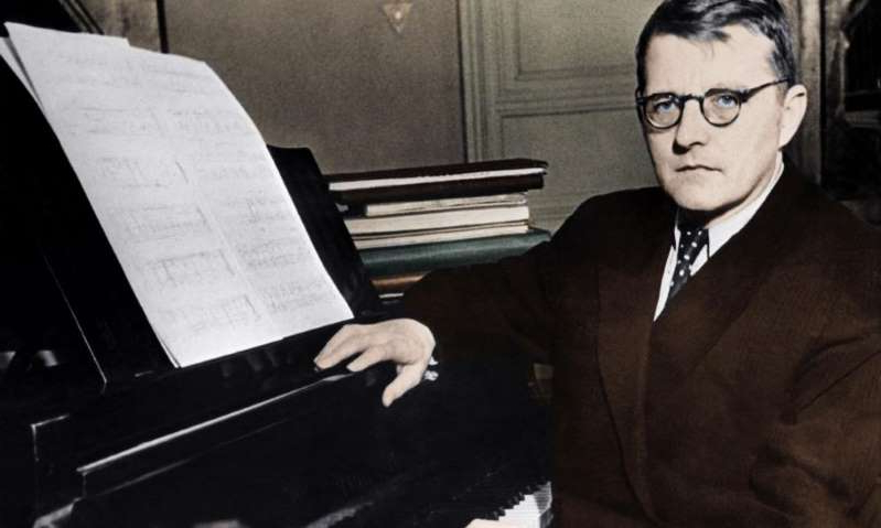 Dmitri Shostakovich sitting in front of a piano: Photograph: ullstein bild Dtl./Getty Images
