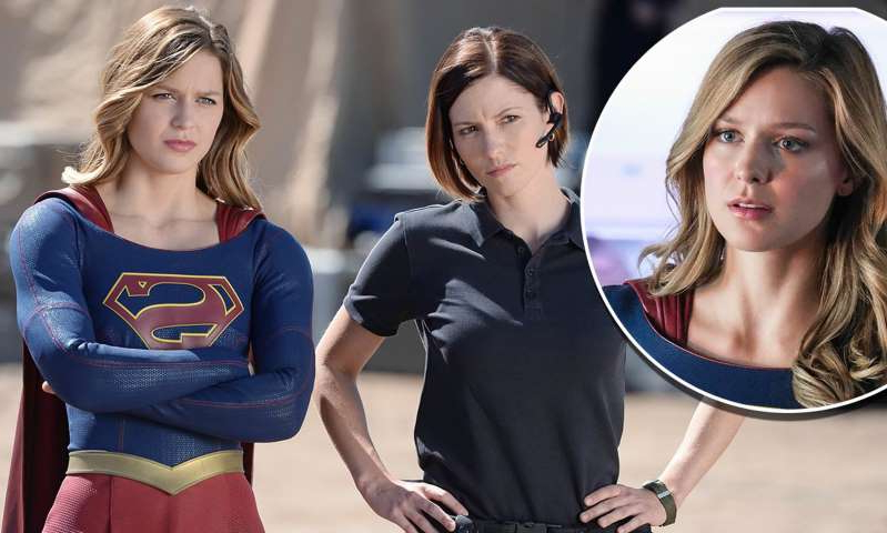 Melissa Benoist, Chyler Leigh, Melissa Benoist posing for the camera: MailOnline logo