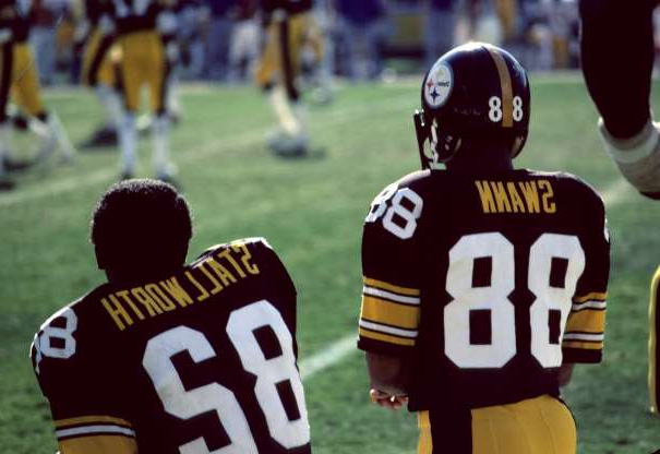 Slide 28 of 33: Look at the Steelers' 2010-11 receiving corps before automatically assuming their John Stallworth-Lynn Swann tandem is the open-and-shut pick. That said, these two are in the Hall of Fame and won four Super Bowls. Both selected in Pittsburgh's iconic 1974 draft, Swann (Round 1) and Stallworth (Round 4) entered a run-oriented NFL. But when the