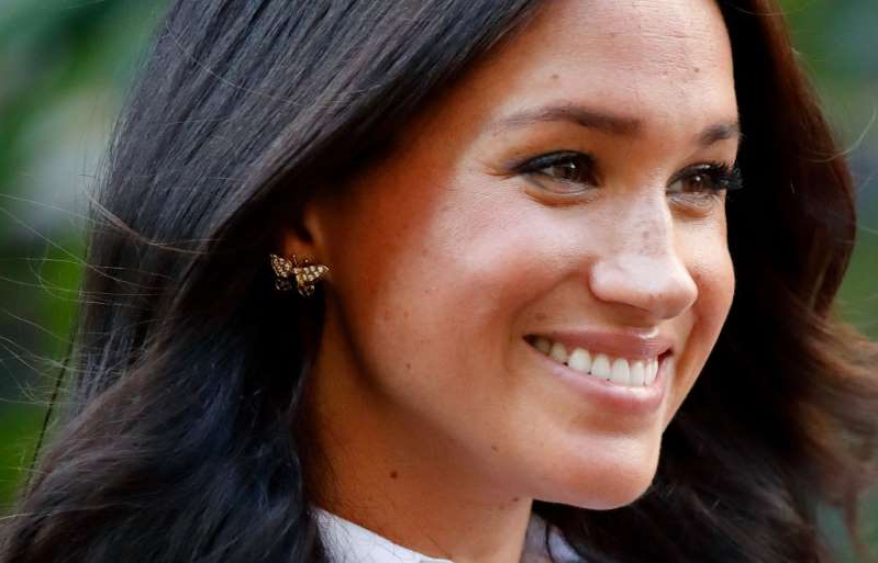a close up of Meghan Markle: Meghan Markle launches the Smart Works capsule collection on September 12, 2019 in London, England. Donald Trump says he is