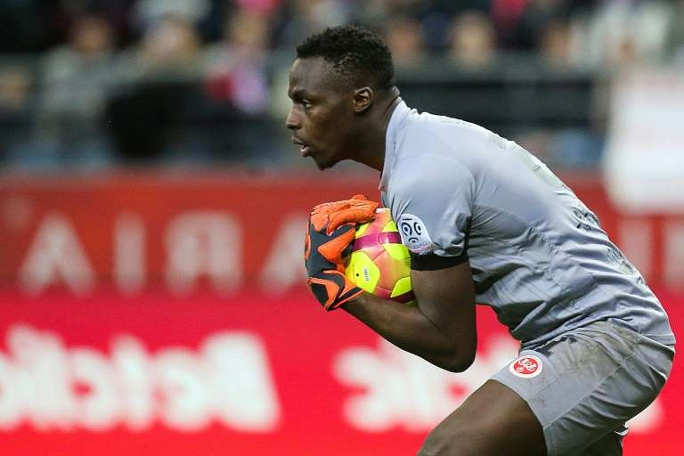 a person throwing a ball: Goalkeeper Edouard Mendy has joined Chelsea