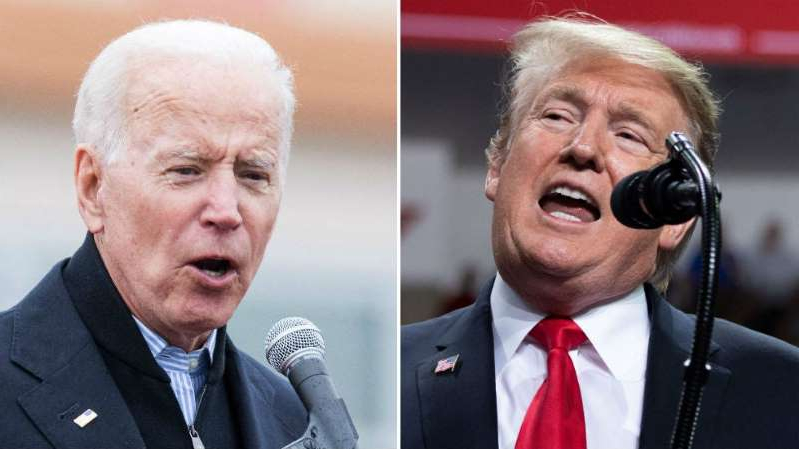 Donald Trump, Joe Biden are posing for a picture: Trump's mastery of business is Biden's biggest obstacle