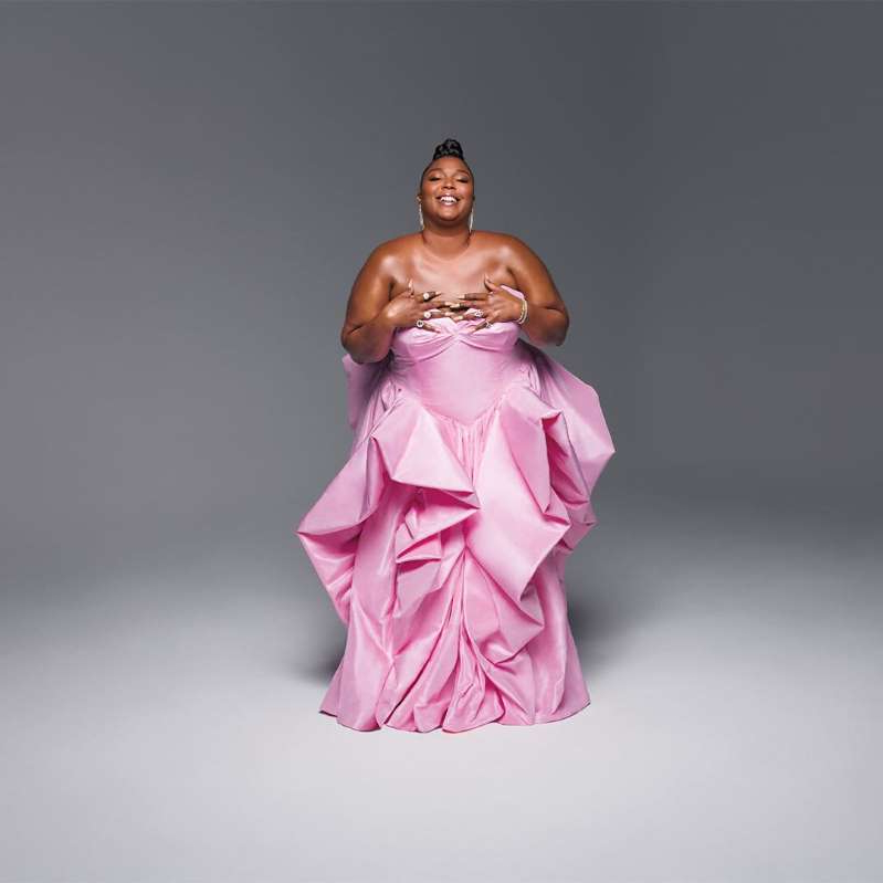 Lizzo wearing a pink dress: Hype Williams
