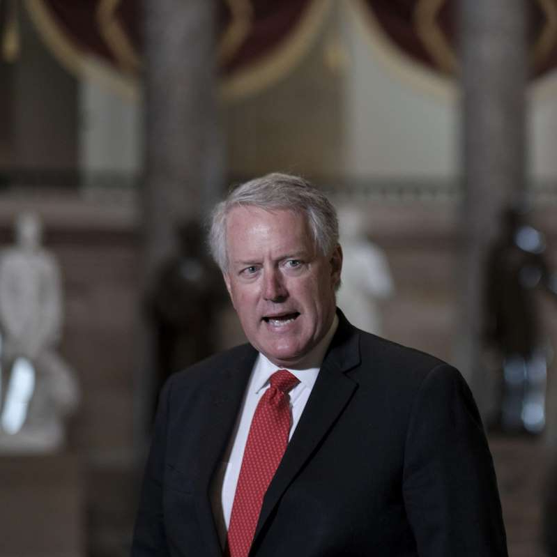 Mark Meadows wearing a suit and tie: House Democrats To Vote On Post Office Bill In Break From Summer Recess