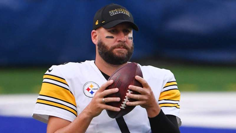a man in a baseball uniform holding a ball: The Pittsburgh Steelers have little choice but to enact a succession plan for Ben Roethlisberger.