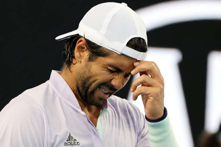 a man wearing a hat: 'Outraged': Spain's Fernando Verdasco