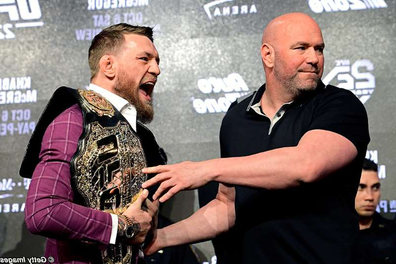 Dana White, Conor McGregor that are talking to each other