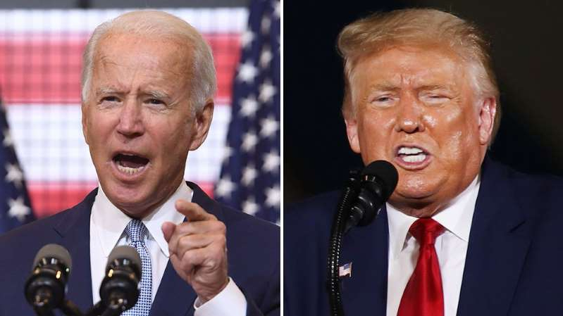 Donald Trump, Joe Biden are posing for a picture: Trump-Biden debate: High risk vs. low expectations