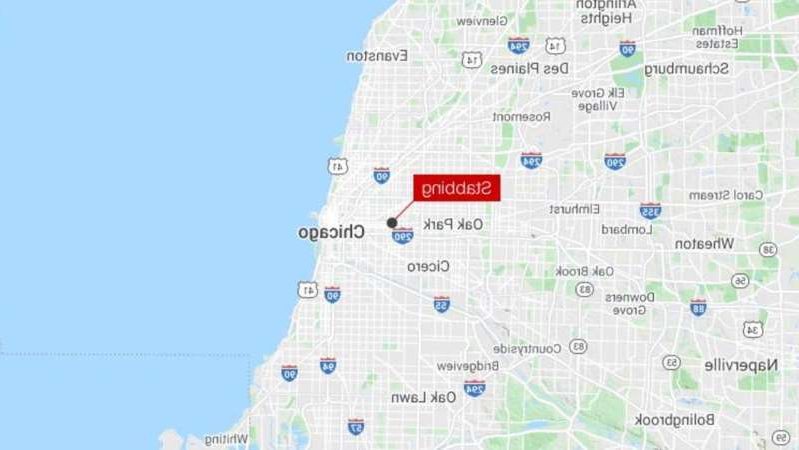 map of stabbing location -- 3200-block of West Fulton Boulevard, Chicago, IL