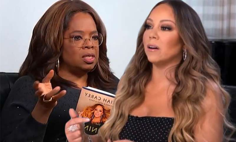 Mariah Carey, Oprah Winfrey are posing for a picture: MailOnline logo