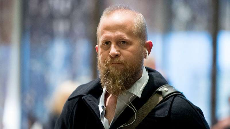 a man wearing a suit and tie: Former Trump campaign manager Brad Parscale hospitalized after threatening self-harm: report