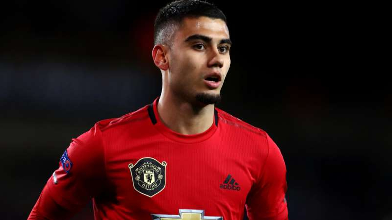 Andreas Pereira wearing a uniform: Manchester United midfielder Andreas Pereira