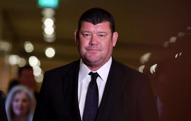 James Packer wearing a suit and tie