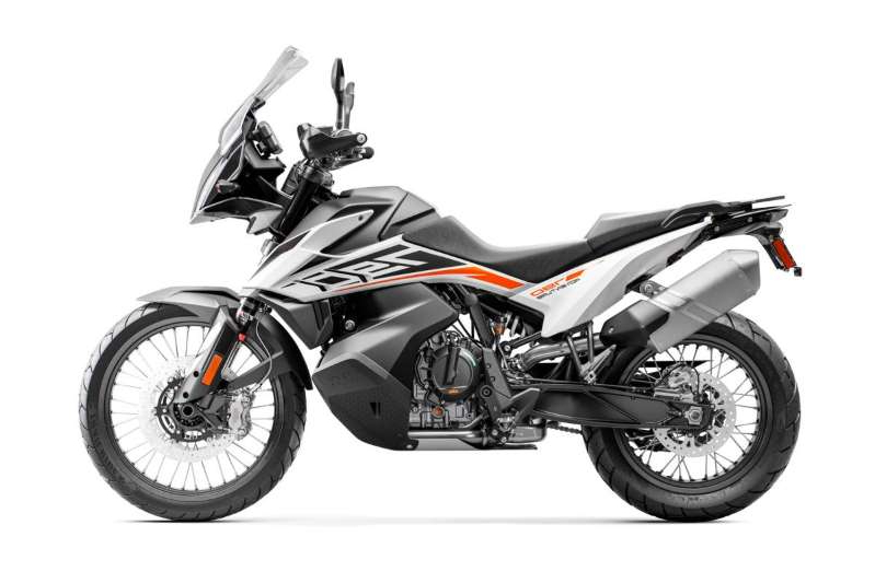 a motorcycle parked on the side of the road: 2020 KTM 790 Adventure