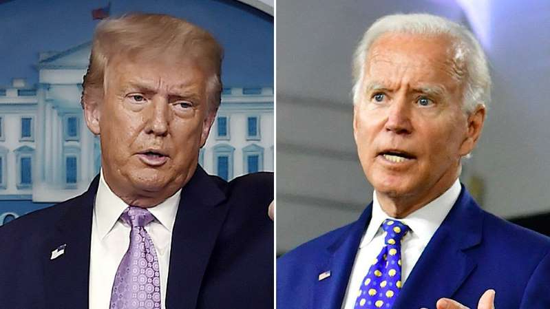 Joe Biden, Donald Trump are posing for a picture: Trump campaign wants to examine Biden's ears for electronic device during debate: report