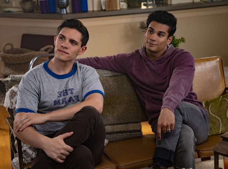 Drew Ray Tanner, Casey Cott are posing for a picture: The CW
