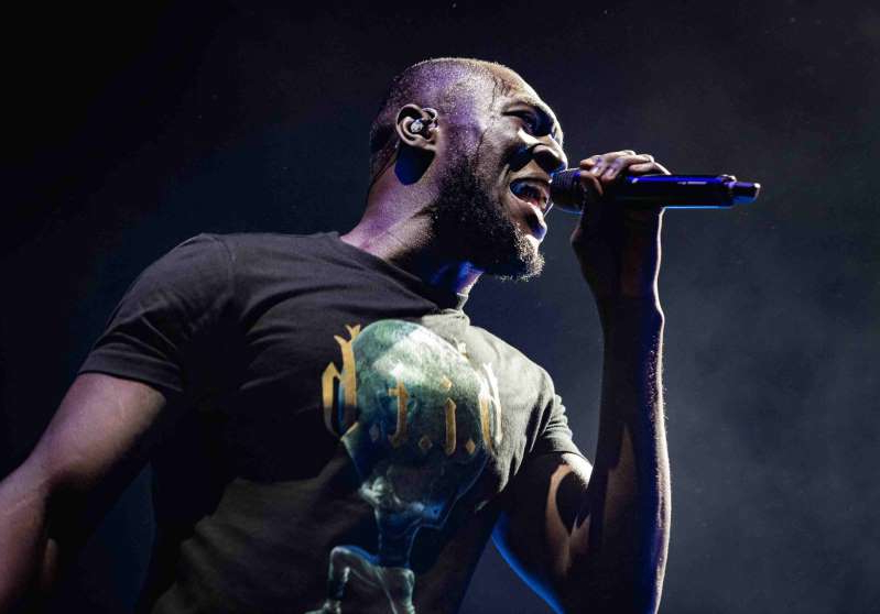 Copenhagen, Denmark. 21st, February 2020. The English rapper Stormzy performs a live concert at Royal Arena in Copenhagen. (Photo by: Avalon/PYMCA/Gonzales Photo/Nikolaj Bransholm/Universal Images Group via Getty Images)