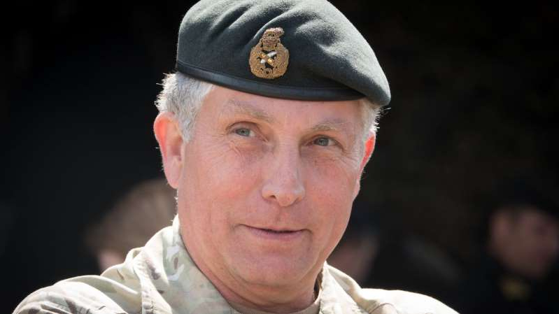 Nick Carter wearing a hat: General Sir Nicholas Carter says the armed forces need to 'fundamentally change'