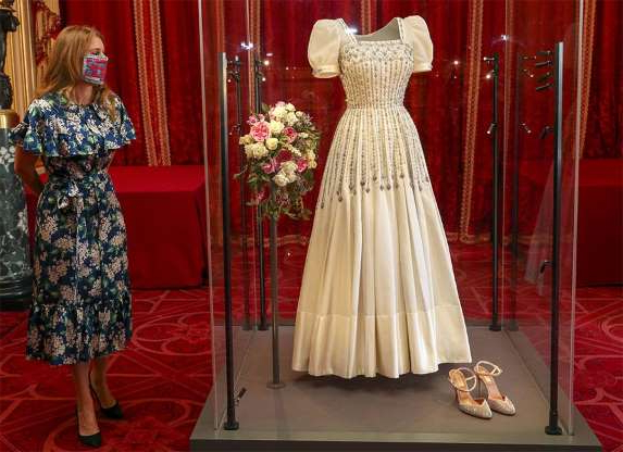 Slide 1 of 5: Princess Beatrice has been reunited with her vintage wedding dress ahead of the gown going on public display at Windsor Castle from Thursday 24 September. The Queen's granddaughter was said to be excited to see her dress for the first time since she exchanged vows with property developer Edoardo Mapelli Mozzi in July. The 94-year-old monarch loaned Beatrice one of her Norman Hartnell gowns, which was altered for the royal bride for her wedding day. It's always an exciting moment for fans to see the dress for the first time when the bride steps out of the car, and it must have been particularly special for the royal newlywed to be reunited with her gown. HELLO! takes a look back at Princess Beatrice and other royal brides who have been reunited with their wedding dresses. READ: Edoardo Mapelli Mozzi's monogram has the sweetest tribute to Princess Beatrice