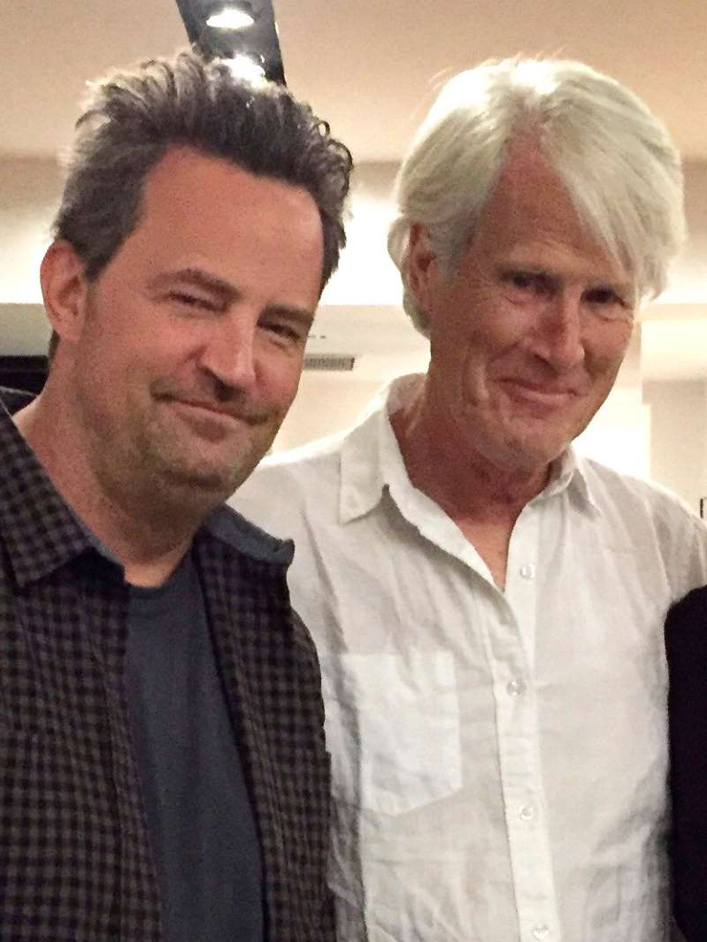 Keith Morrison, Matthew Perry posing for the camera: Courtesy Keith Morrison Keith Morrison and stepson Matthew Perry