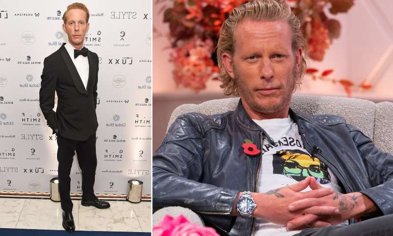 Laurence Fox, Laurence Fox are posing for a picture: MailOnline logo
