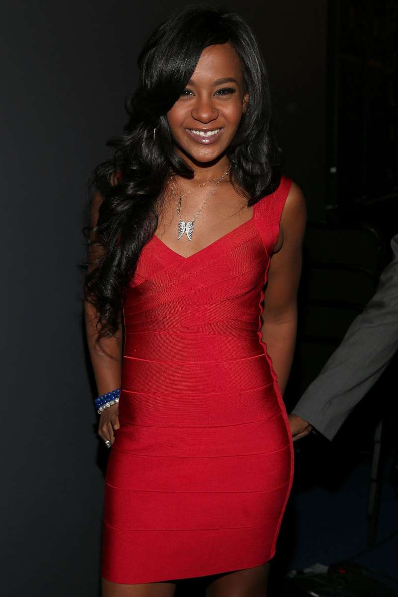 Bobbi Kristina Brown wearing a dress: Christopher Polk/WireImage