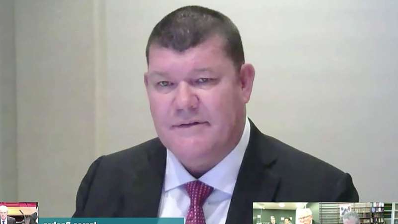James Packer wearing a suit and tie: James Packer told the inquiry he will not be joining the Crown board again. (Supplied)