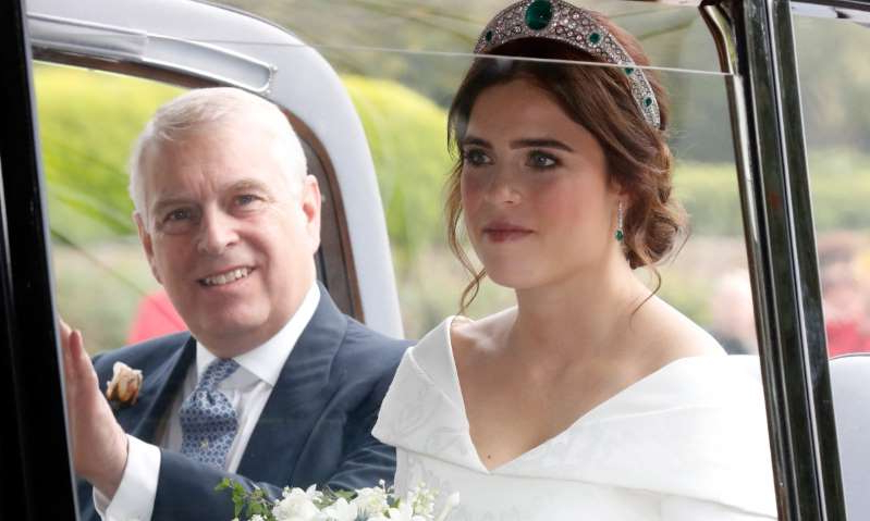 Princess Eugenie of York, Prince Andrew, Duke of York are posing for a picture: Hello! Magazine