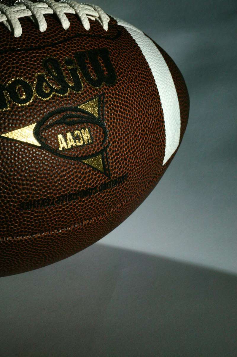 a close up of a ball: The NCAA moved closer to athlete reforms on name, image and likeness.