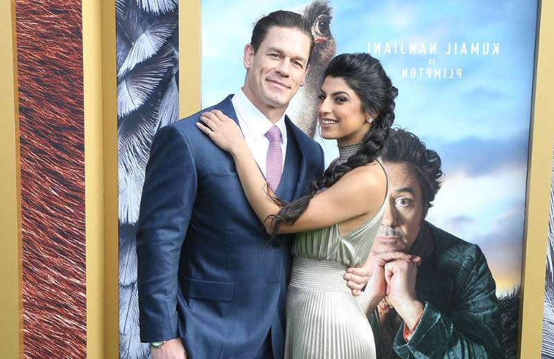 Leilah Broukhim, John Cena posing for a picture: John Cena and Shay Shariatzadeh
